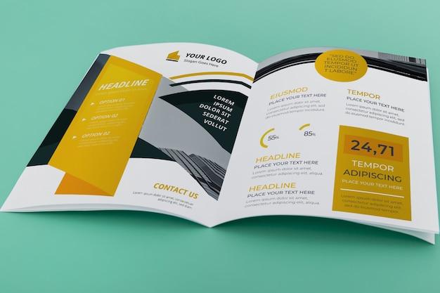 Modelo de brochura bifold brochura