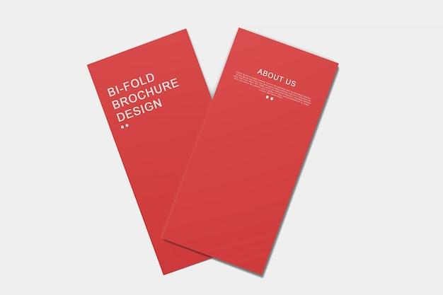 Modelo de brochura com dobra dupla