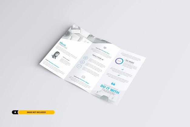 Modelo de brochura com três dobras a4