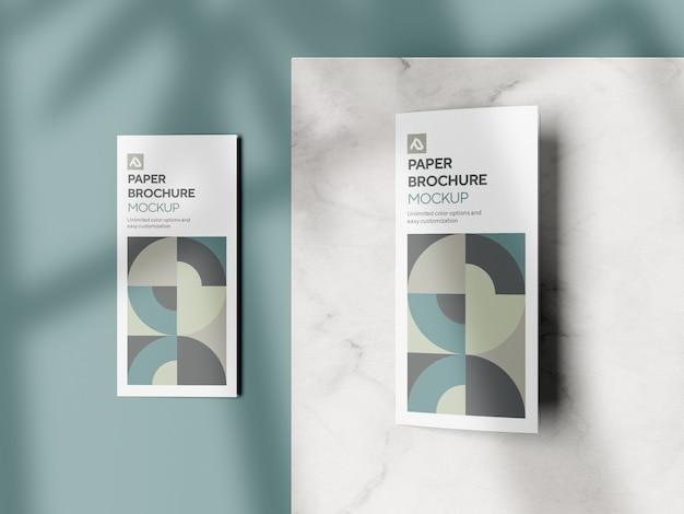 Modelo de brochura com três dobras corporativa psd
