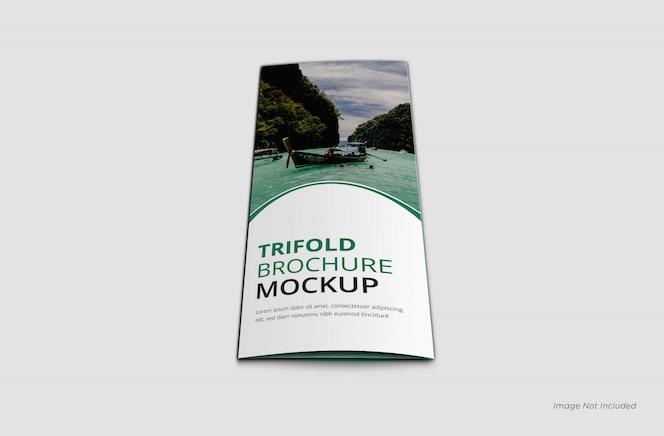modelo de brochura com três dobras da página de capa