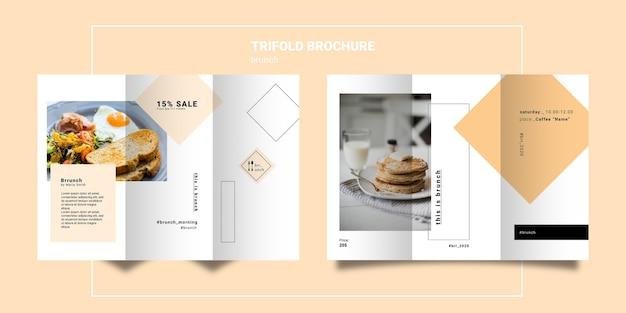 Modelo de brochura com três dobras de brunch