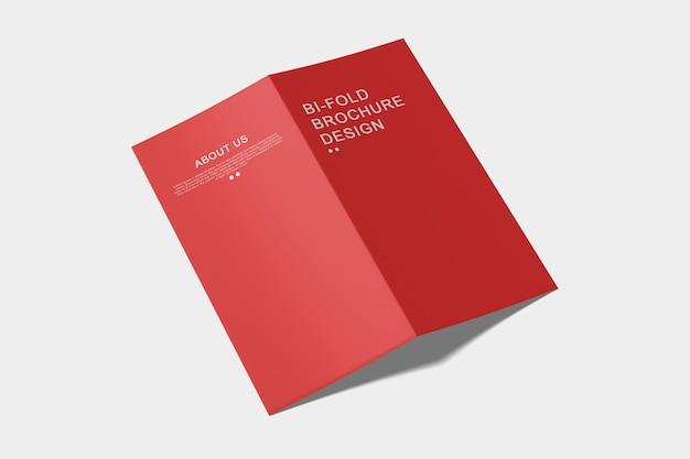 Modelo de brochura de dobragem dupla dl