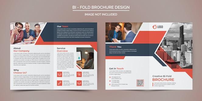 Modelo de brochura - dobra de negócios corporativos