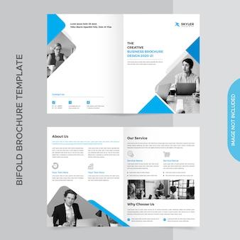 Modelo de brochura - negócio bifold