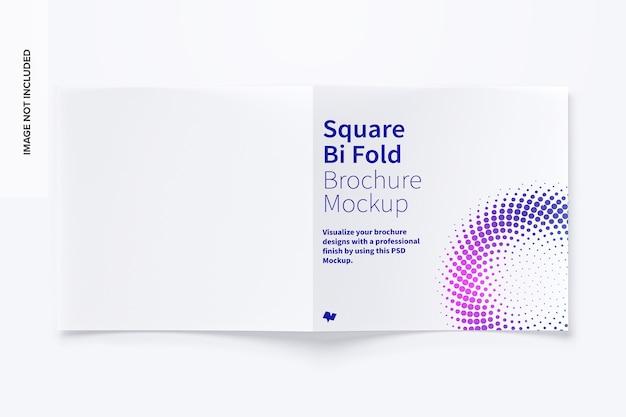 Modelo de brochura quadrada com dobra dupla