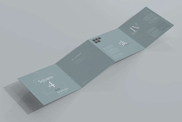 Modelo de brochura quadrada quadrada Psd grátis