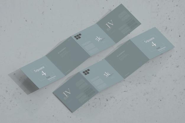 Modelo de brochura quadrada quadrada