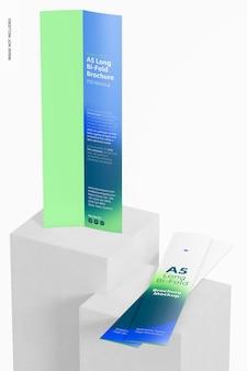 Modelo de brochuras de dobra longa a5, perspectiva