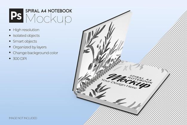 Modelo de caderno a4 espiral