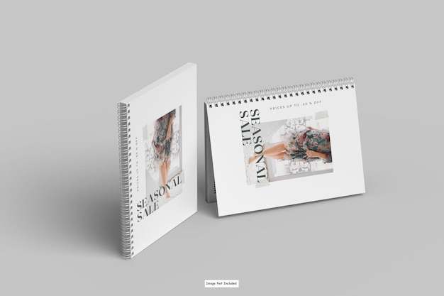 Modelo de caderno em espiral a4