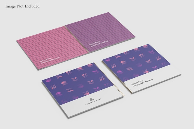 Modelo de caderno espiral Psd Premium