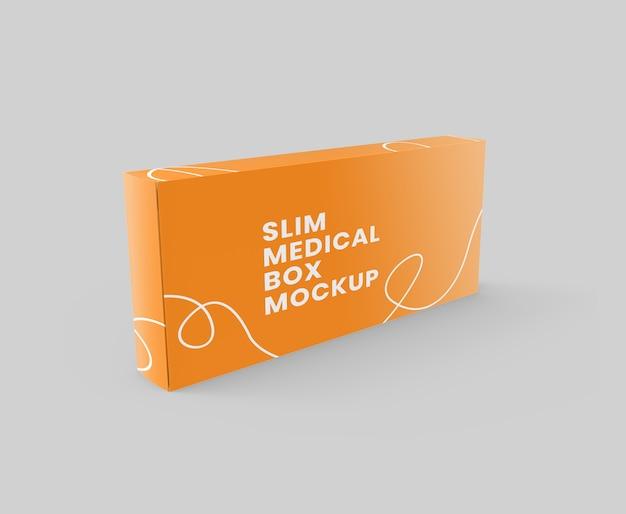 Modelo de caixa médica de retângulo fino