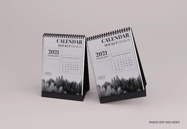 Modelo de calendário de mesa com retrato