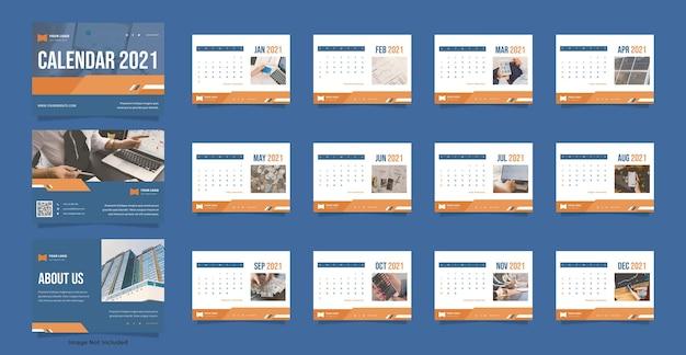 Modelo de calendário de mesa de finanças