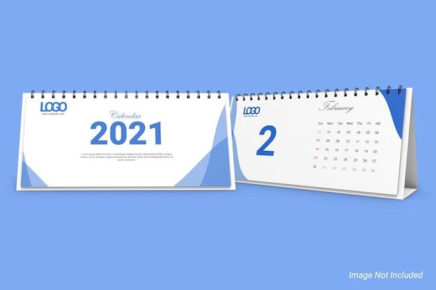 Modelo de calendário de mesa de negócios em paisagem