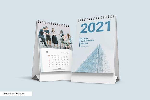 Modelo de calendário de mesa do retrato