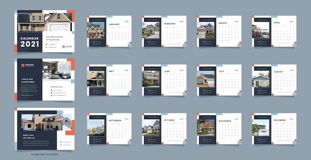 Modelo de calendário de mesa para imóveis