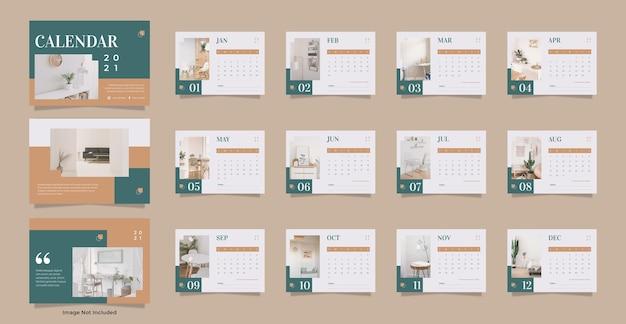 Modelo de calendário de mesa para móveis