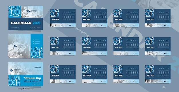 Modelo de calendário de mesa para negócios criativos