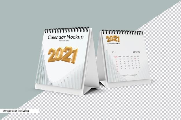 Modelo de calendário de mesa quadrado isolado