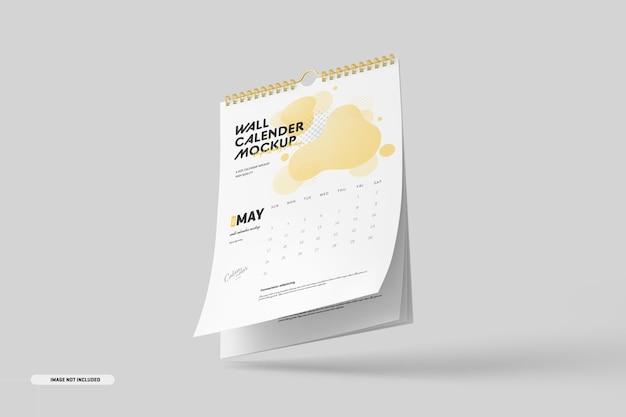 Modelo de calendário de parede em espiral