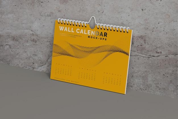 Modelo de calendário de parede horizontal