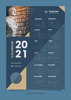 Modelo de calendário de parede para escritório de advocacia