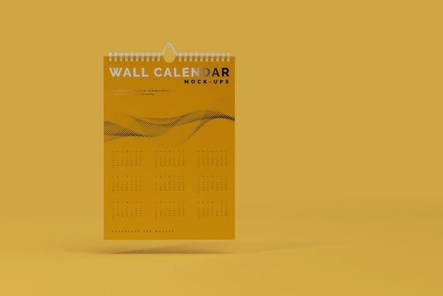Modelo de calendário de parede vertical