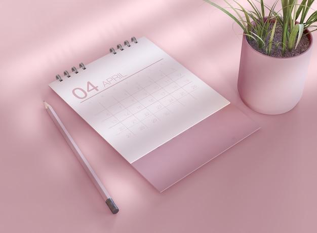 Modelo de calendário em espiral