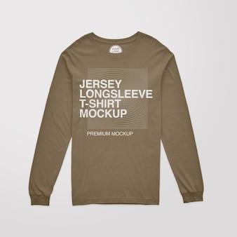 Modelo de camiseta de manga comprida em jersey