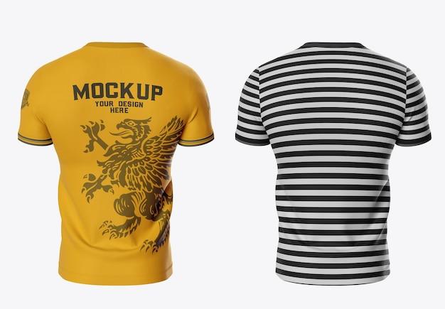 Modelo de camiseta esportiva masculina na parte de trás
