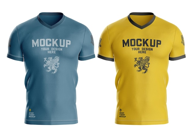 Modelo de camiseta esportiva masculina