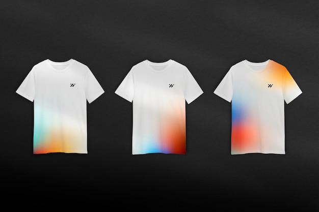 Modelo de camiseta gradiente psd em estilo minimalista