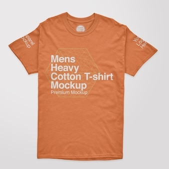 Modelo de camiseta masculina de algodão pesado