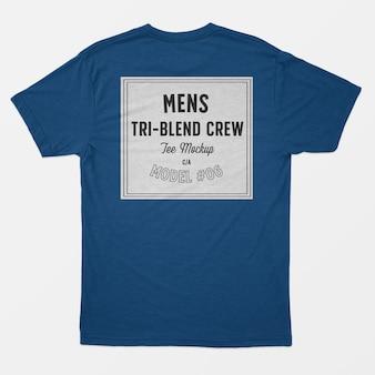Modelo de camiseta tripulação tri-blend para homem