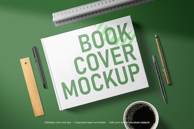 Modelo de capa de livro de papelaria de marca