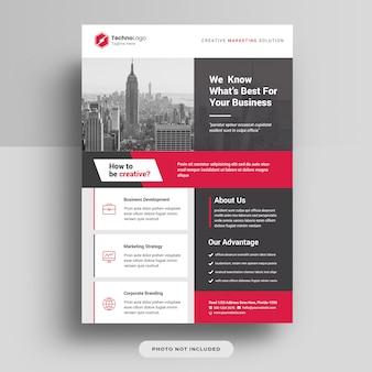 Modelo de capa de panfleto de negócios corporativos a4 psd