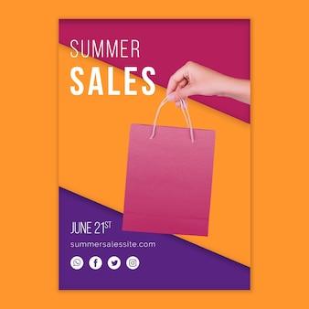 Modelo de capa de vendas de verão