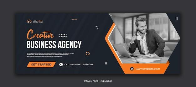 Modelo de capa do facebook da agência de negócios criativos mídia social corporativa
