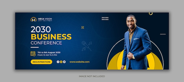 Modelo de capa do facebook de mídia social corporativa para conferências empresariais