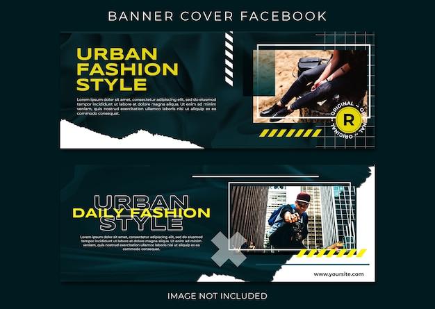 Modelo de capa do facebook de moda em estilo urbano