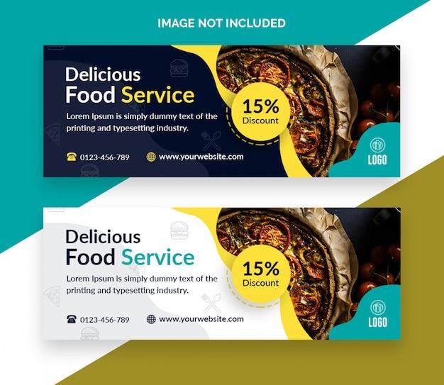 Modelo de capa do facebook de restaurante de comida