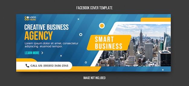 Modelo de capa do facebook moderno agência