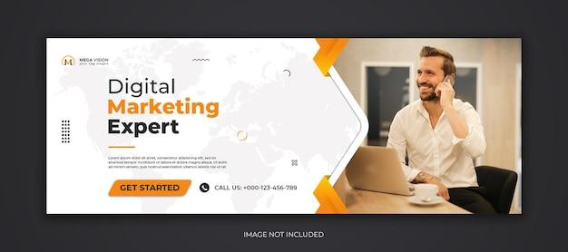 Modelo de capa do facebook para marketing digital mídia social corporativa