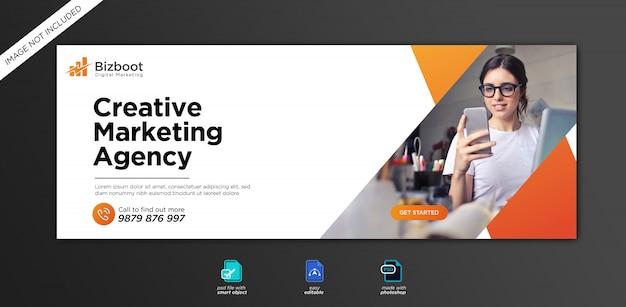 Modelo de capa do facebook para promoção de marketing empresarial