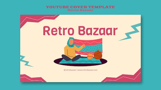 Modelo de capa do youtube de bazar retrô