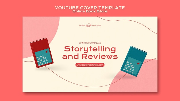 Modelo de capa do youtube para livraria online