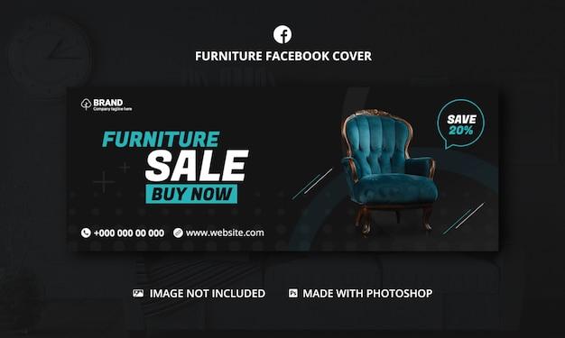 Modelo de capa para facebook de venda de móveis