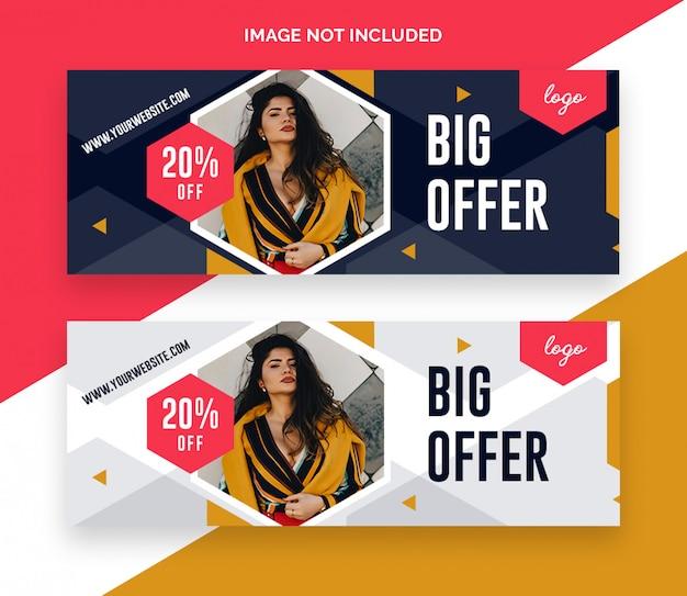 Modelo de capas de facebook de venda de moda